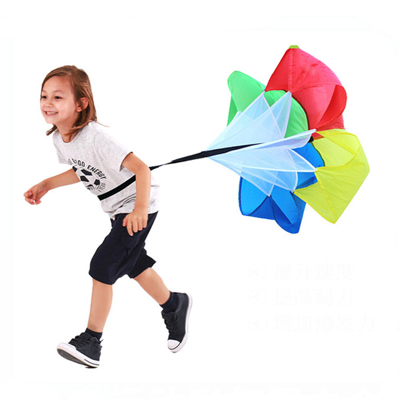 Speed Running Parachute Outdoor Toys Children Sport Games For Kids Sensory Play Physical Training