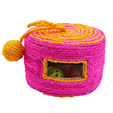 1pcs Wear-Resistant Toys Cat Claw Weaving Barrel with 2 Bells Woven Drum Type Pet dog pet Supplies Toy