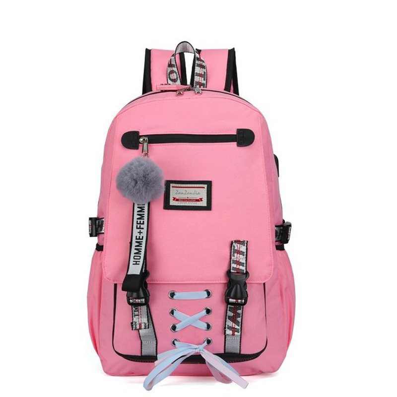 Women's Notebook Laptop Backpack Usb Charging Anti Theft School Backpack Casual Rucksack Men's Travel Backpack Canvas School Bag