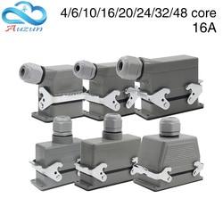 24 - core heavy duty connector 16 - core 6 - core 10 - core 32 - core aviation plug for hot runner robot connector