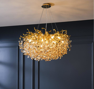 Image 3 - French crystal chandelier romantic golden living room dining room decoration lamp custom hotel project lighting