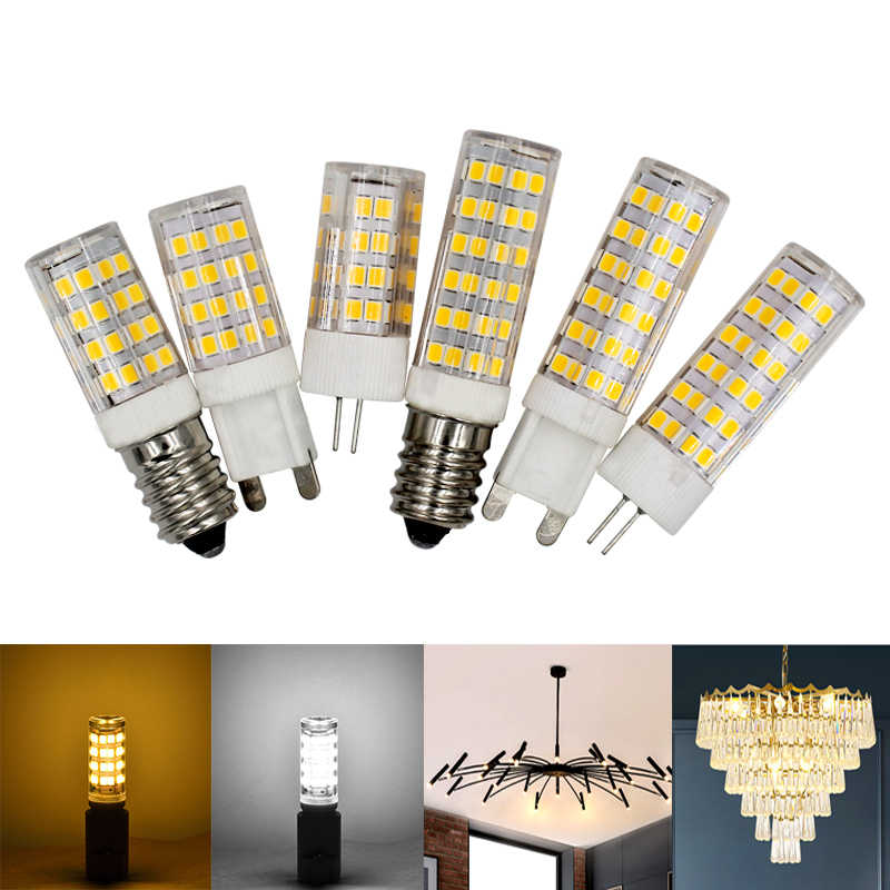 LED Light Bulb G4 G9 E14 5W 7W Crystal Chandelier Lamp 220V warm white cold white led lamp