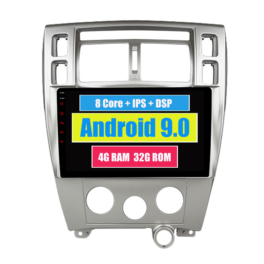 RoverOne Android 9.0 Octa Core <font><b>Tucson</b></font> <font><b>Car</b></font> <font><b>Radio</b></font> GPS For <font><b>Hyundai</b></font> <font><b>Tucson</b></font> 2005-2009 Touchscreen Multimedia Player Stereo Head Unit image