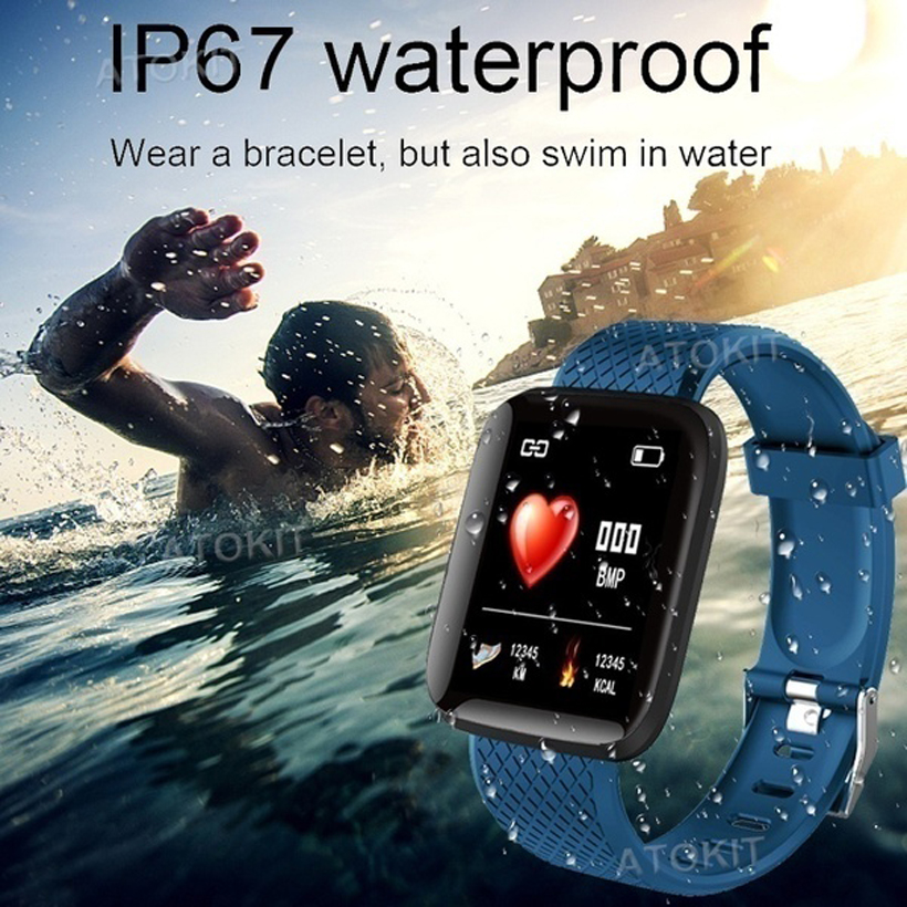 Screen Smart Watch Bluetooth Watch Heart Rate Blood Pressure Sleep Monitor Fitness Tracker IP67 Waterproof Bracelet IOS Android  - buy with discount