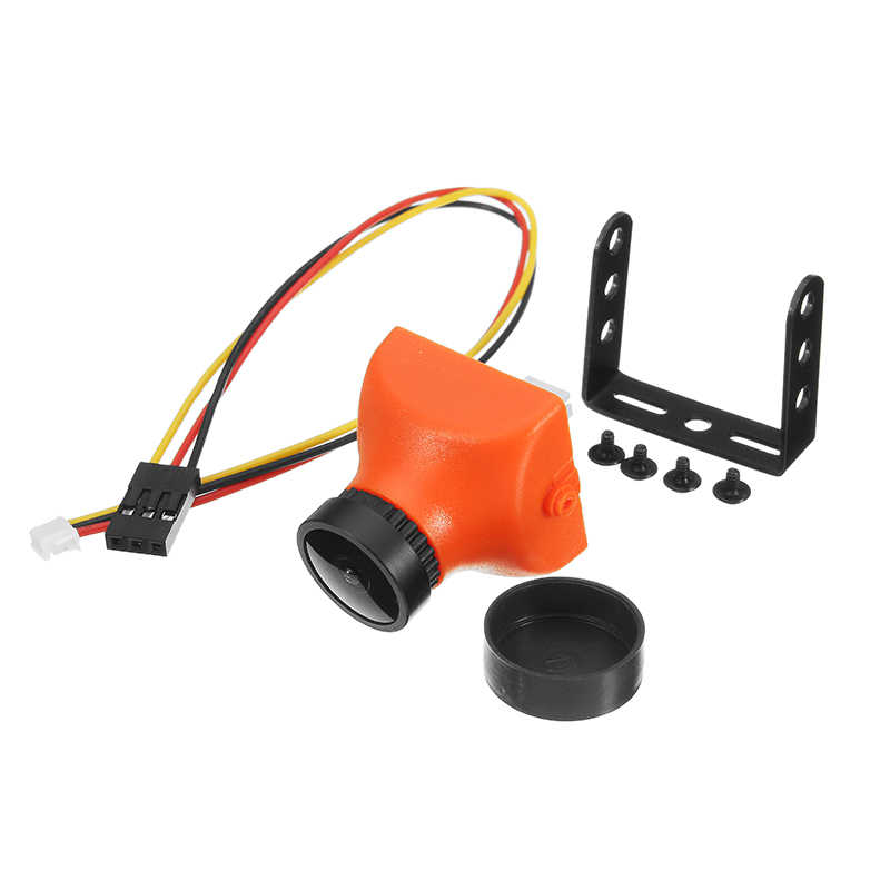 Orange 1200TVL CMOS 2.5mm/2.8mm 130/120 degrés 16:9 Mini caméra FPV PAL NTSC 5 V-12 V pour Drone de course RC