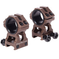 Tan High Profile Picatinny Scope Mounts 1 inch/30mm Dual Rings CNC Weaver High Scope Rings Picatinny Rail Hunting Accessories
