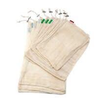9 pièces coton maille légumes sacs de rangement cuisine écologique Fruit Organization sac avec cordon réutilisable lavable