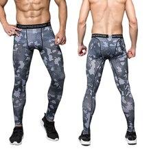 Мужские Компрессионные Леггинсы для тренажерного зала, спортивные тренировочные штаны, мужские колготки для бега, спортивные штаны для бега