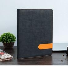 Business Contract Stitch Leather Black Padfolio Portfolio Folder for Men & Women,Resume Document Organizer A4