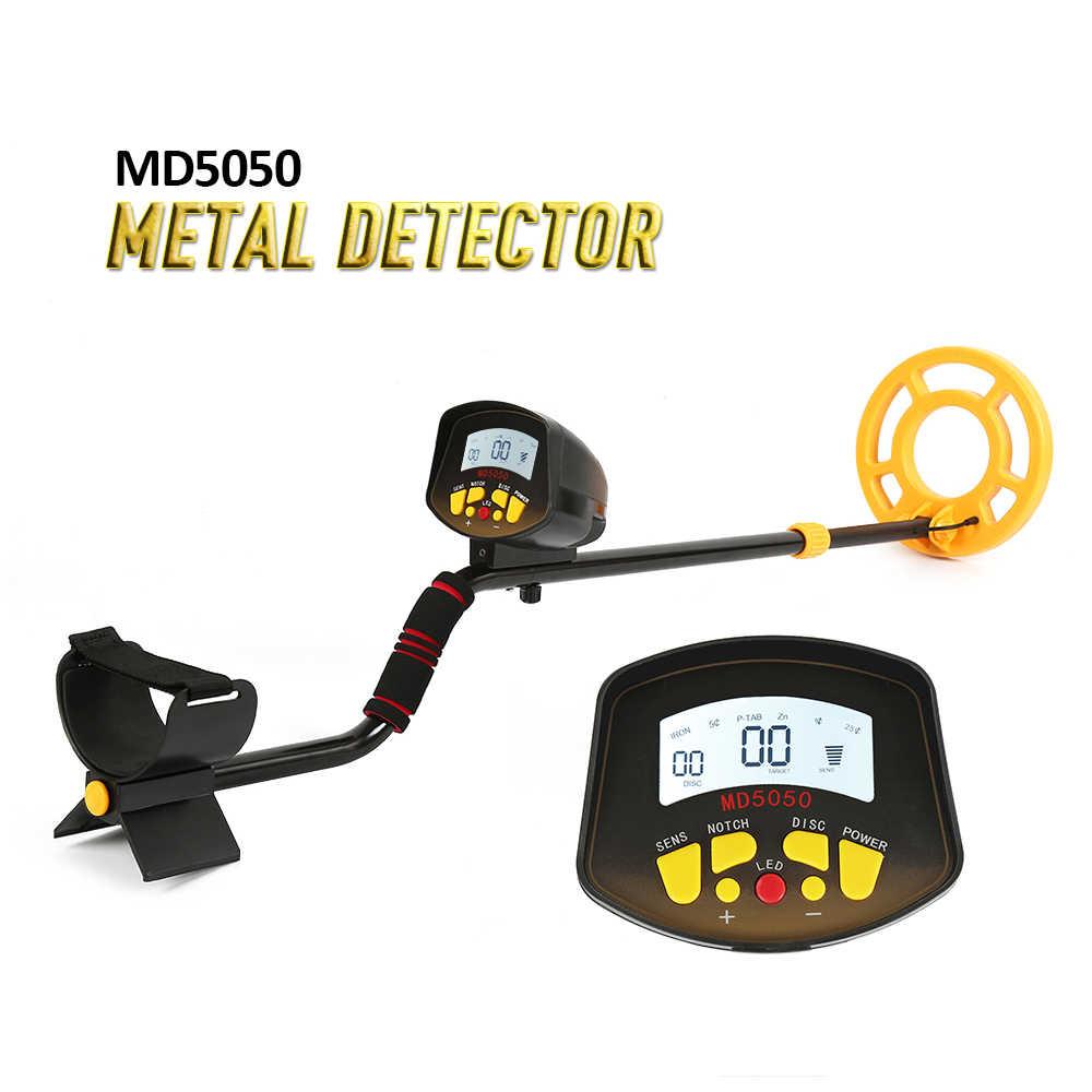 Глубина металлоискатель MD5050 Легкая установка подземный металлоискатель водонепроницаемый золотой пинпостер Золотого Металла обнаруживающий искатель