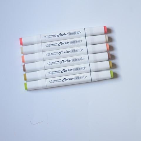 caneta conjunto 30 40 60 80 cores manga artista