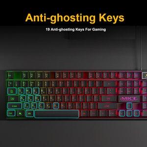 Image 5 - iMice Gaming Keyboard Imitation Mechanical Keyboard Backlight Spainsh Russian Gamer Keyboard Wired USB Game keyboards Computer