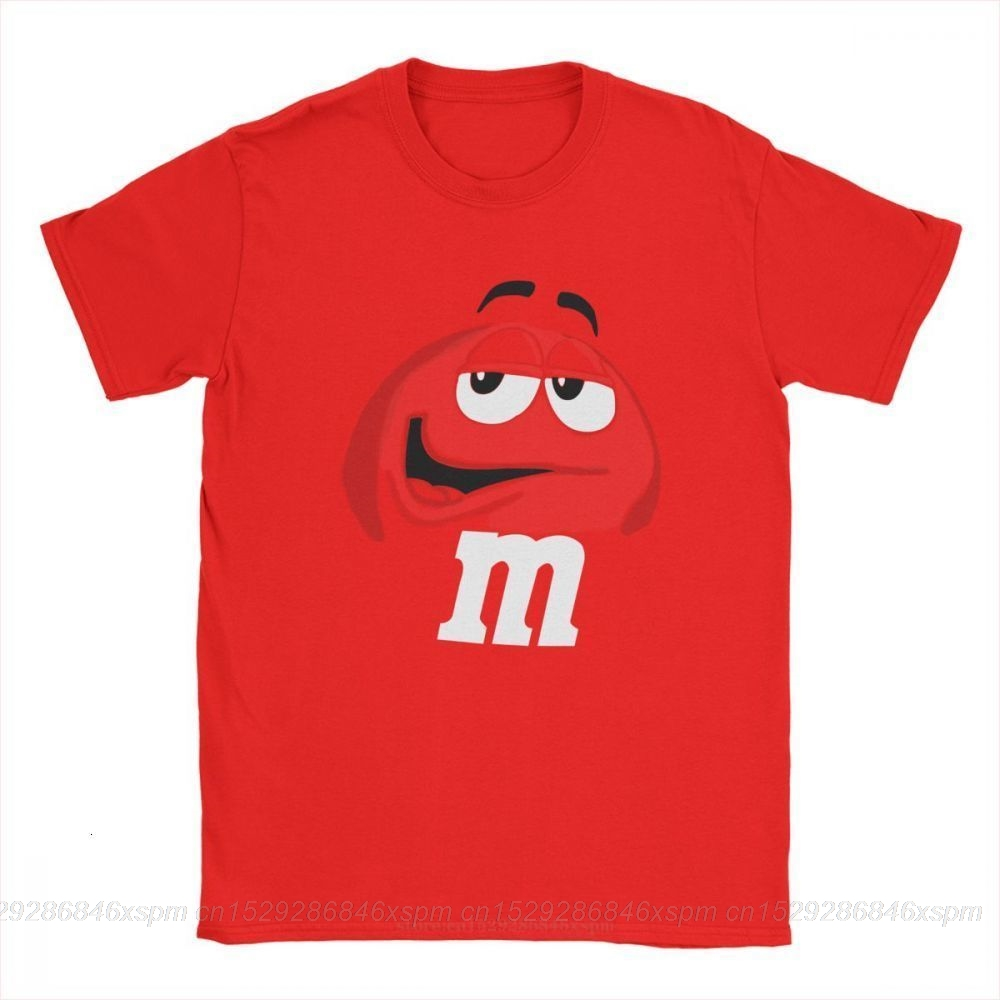 One Yona M&M's Chocolate Candy Character Face Tees Short New Fashion T Shirt Men's Pure Cotton Amazing T-Shirt Sleeve Tops