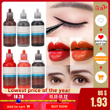 Tattoo Ink 15ml/Bottle Eyebrow Lip Eyeliner Tattoo Plant Pigment Permanent Pigment Ink  For Microblading Makeup Cosmetics Tool