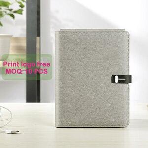 Image 5 - Ładowanie wireless wielofunkcyjny A5 Notebook 5000 MAh Power Bank wsparcie IOS Android typu c prezent biznesowy biuro notes