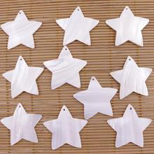 10 PCS Star Shell Natural White Mother of Pearl Loose Beads Jewelry Making 18mm 22mm 40mm lots 10 pcs 18mm white shell six petal flower mother of pearl loose beads