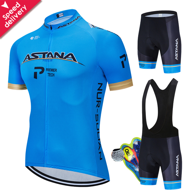 Verão 2020 astana pro equipe de ciclismo jérsei maillot bicicleta ciclismo roupas da bicicleta dos homens uniformes dos esportes montanha terno conjunto 1