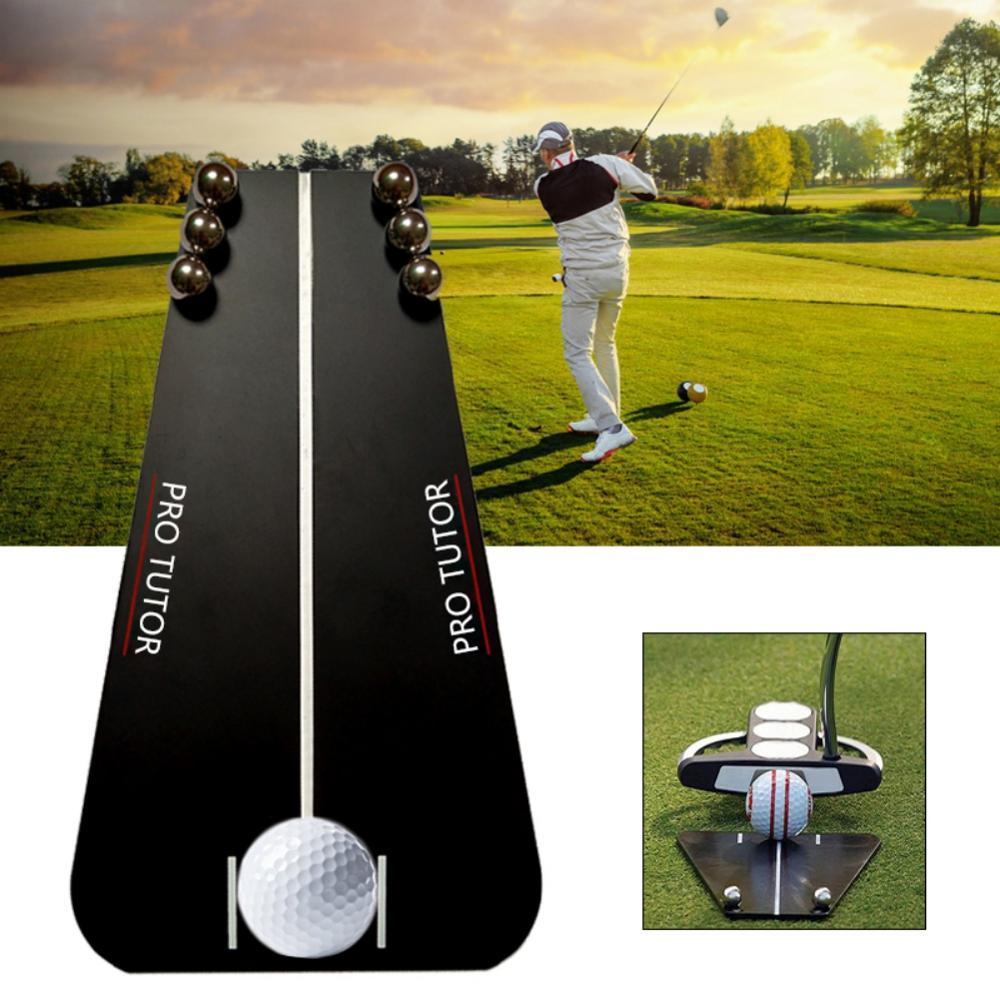 Golf Putting Mirror Training Alignment Portable Mirror Golf Aid Alignment Tools Indoor & Outdoor Putting Tutor Golf Accessory