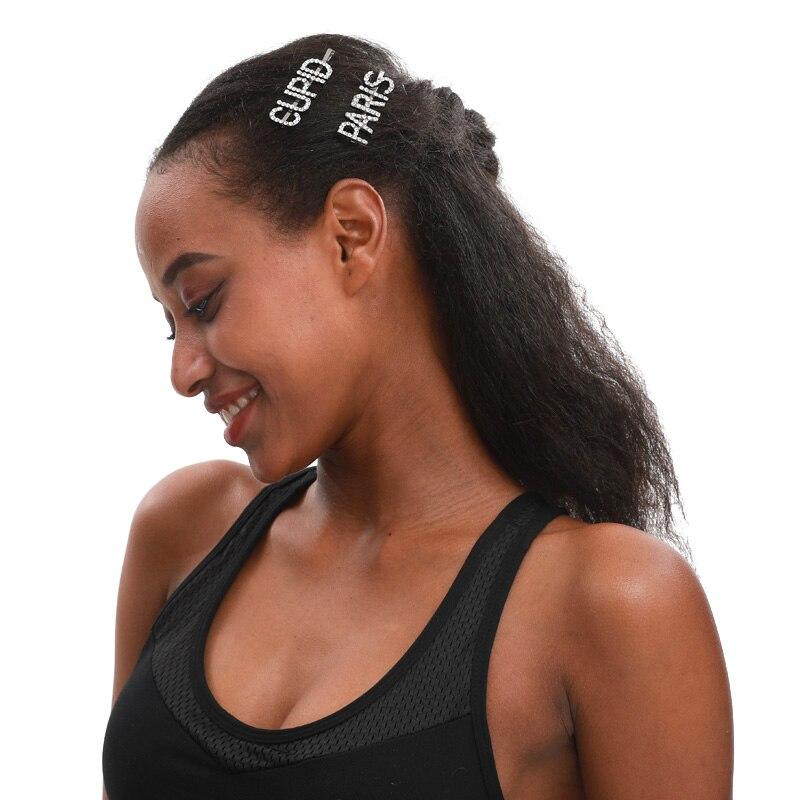 Оригинальное слово заколки производитель Blingbling буквы Bobby шпильки Высокое качество заколки для волос аксессуары для волос оптовая продажа