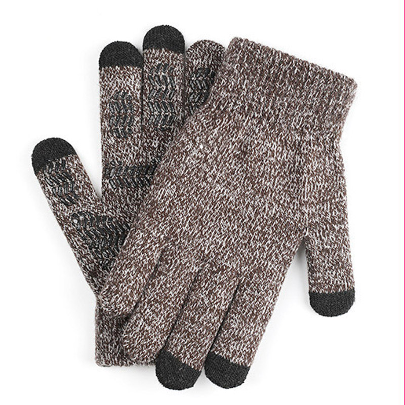 Autumn Winter Knitted Gloves Touch Screen High Quality Male Mitten Thicken Warm Wool Cashmere Solid Women Men Business Gloves