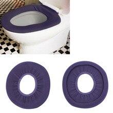 1 шт. Моющаяся Ткань o-образное теплое сиденье для туалета коврик для ванной комнаты новое поступление