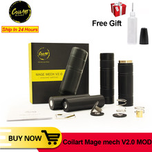 Original Coilart Mage Mech V2.0 Stacked Edition Mech Mod 510 Thread Mechanical Vape Pen Mods Compatiable with 18650 20700 21700(China)