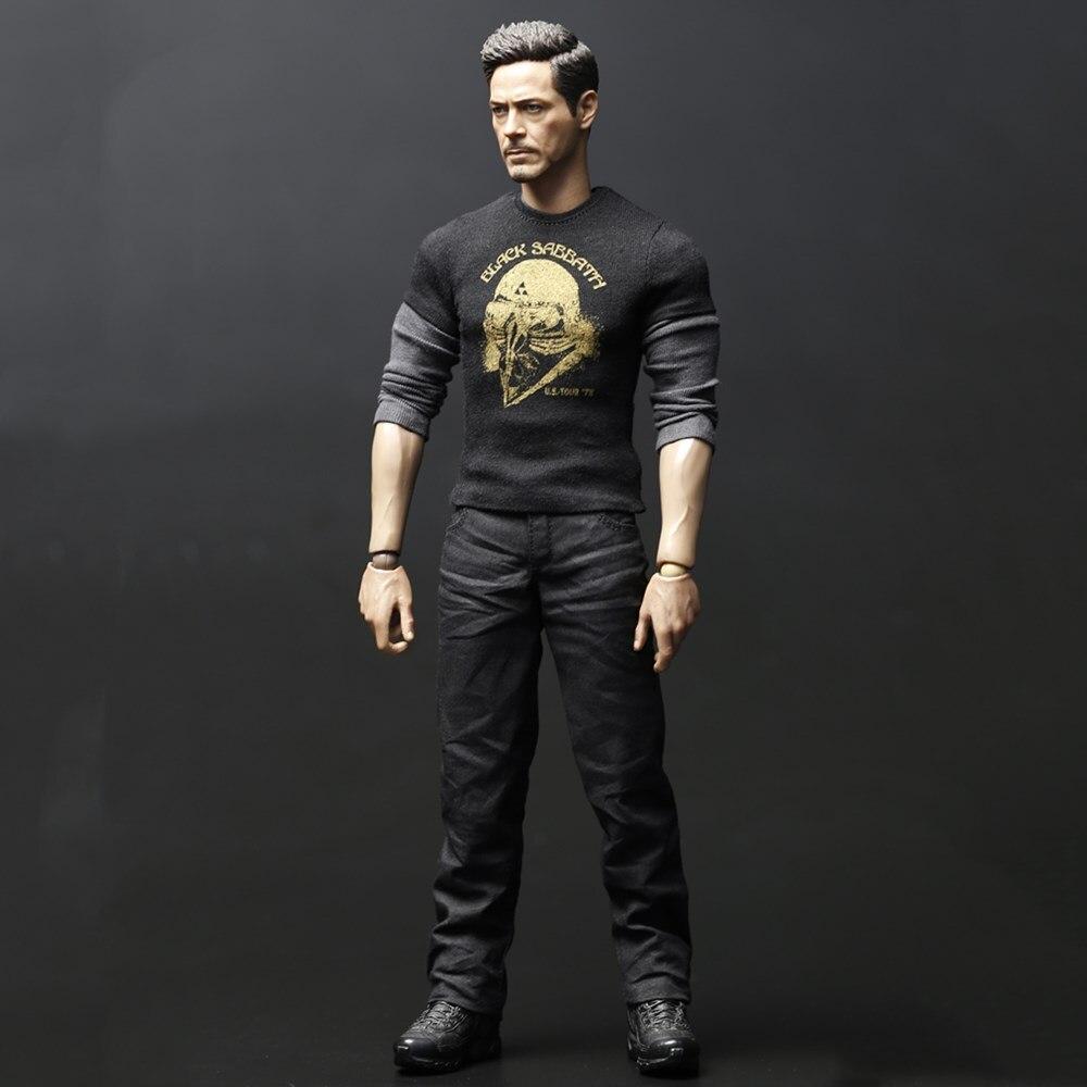 Cool conception Figure 1/6 Ironman Tony T-shirt pour 12 pouces figurine bricolage