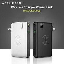 10000mah Power Bank bezprzewodowa ładowarka QC3.0 szybka ładowarka do tabletu Iphone Huawei 3 w 1 18650 Powerbank typ C USB PD Chagrer