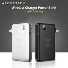 "10000mah כוח בנק מטען אלחוטי QC3.0 מהיר מטען עבור Iphone Tablet Huawei 3 ב 1 18650 Powerbank סוג C USB פ""ד Chagrer"