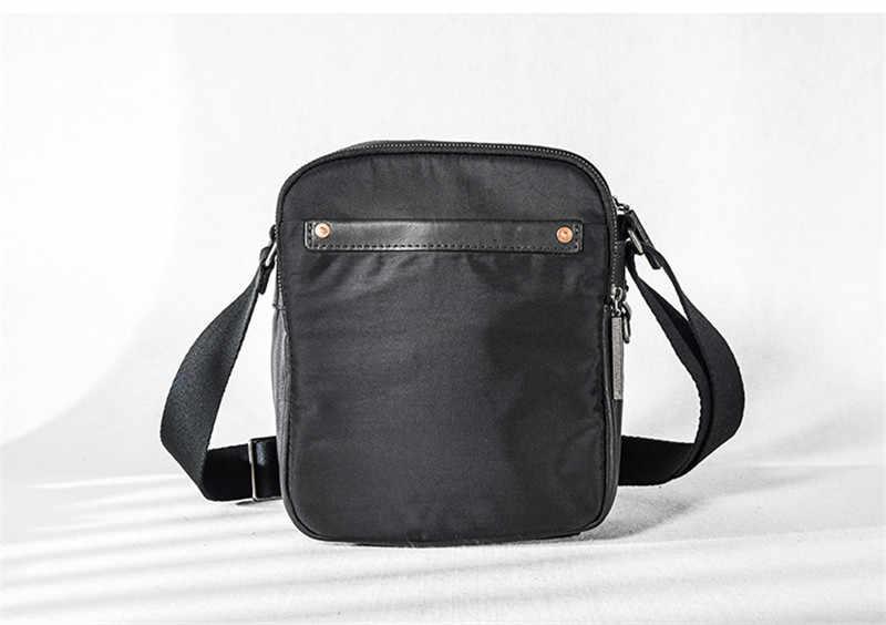Модные повседневные мужские маленькие сумки-мессенджеры из натуральной воловьей кожи, тренд, повседневный светильник, дорожная черная сумка на плечо для подростков