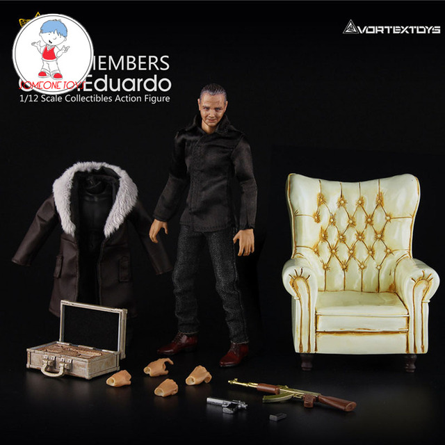1/12 Scale Carlo Eduardo Action Figure Model with Yellow/Blue/Red Sofa Collections Models