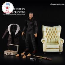 نموذج لجسم عمل كارلو إدواردو بمقاس 1/12 مع نماذج مجموعات الأريكة الصفراء/الزرقاء/الحمراء