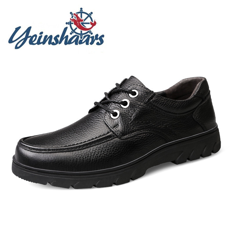 Genuine Leather Shoes Men Brand Footwear Business Bureau Classic Shoes Mens Casual Comfy Shoes Male High Quality Cowhide Formal image