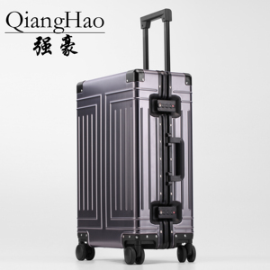 Image 2 - QiangHao brand 100% Aluminum alloy material spinner travel suitcase laptop trolley hand luggage for travelling