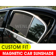 For Audi A6L 2013-2020 Car Side Window SunShades Cover Mesh Custom Fit Car Sun Shade Blind Baby Kid Protection