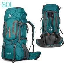 Mochilas de camping para senderismo, bolsa grande superligera, deportiva y de viaje, con soporte de aleación de aluminio y nailon, para exteriores, 80l, 2020