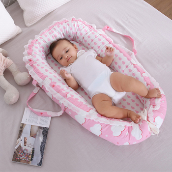 85X50cm Portable Baby Crib Infant Toddler Cradle Cot Newborn Nursery Travel Folding Baby Nest Girls Baby Bed with Bumper portable baby crib nursery travel folding baby bed bag infant toddler cradle multifunction baby play bed baby nest 8865