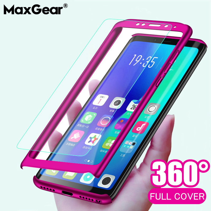 Luxury 360 Degrees Phone Case For Xiaomi Redmi Note 9 9S 4X 5 6 7 8 8T Pro Full Cover For Redmi 5 6A 7A 8A K20 Capa Coque Glass(China)