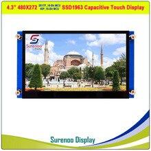 """4.3 """"480*272 SSD1963 capacitif/résistif tactile 16_Bit MCU TFT LCD Module écran daffichage panneau"""