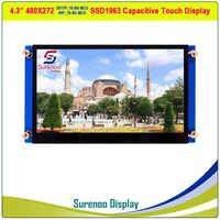 """4.3 """"480*272 SSD1963 pojemnościowy/rezystancyjny ekran dotykowy 16_Bit MCU moduł tft lcd panel wyświetlacza"""