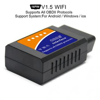 ELM327 V1.5 Super Mini Wifi Scanner Draadloze Interface Auto V03HW-1 Interface Code Lezers Diagnostic Tool Obdii Protocollen Nieuwe