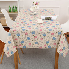Floral Printed Tablecloths High Quality Pastoral Dustproof Oilproof Table Cloth Rectangle Cotton Linen Cover Home Decor
