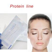Фиброина шелка нити fadenlifting резьба коллагеновая нить для лица для снятия анти-старения гиалуроновой подтяжки кожи