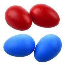 2 пары пластиковых ударных музыкальное яйцо Маракас шейкеры красный и синий