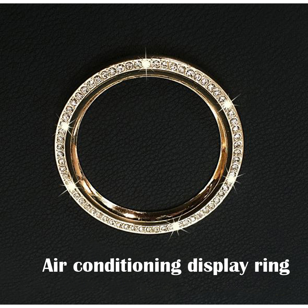 Fit For BMW Mini Cooper Countryman Paceman Car Air Conditioning Display Decorative Interior Trim Ring With Rhinestone
