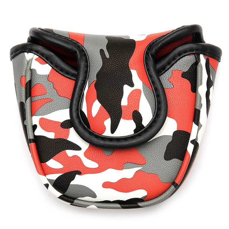 New Mallet Golf Putter Headcover With Magnetic Closure Waterproof PU Camouflage Golf Putter Head Cover