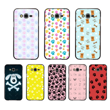 NBDRUICAI Vintage dog PAW footprint bone Soft Silicone TPU Phone Cover For Samsung Galaxy J7 J8 J3 J4 J5 J6 Plus 2018 Prime(China)