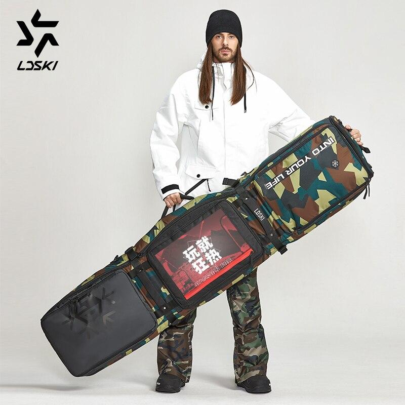 Ldski Ruote Sacchetto Sacchetto di Snowboard Team Serie Casco da Sci di Avvio Inverno Borsa da Viaggio Materiale Impermeabile Asciutto Bagnato Sezioni Separate - 5