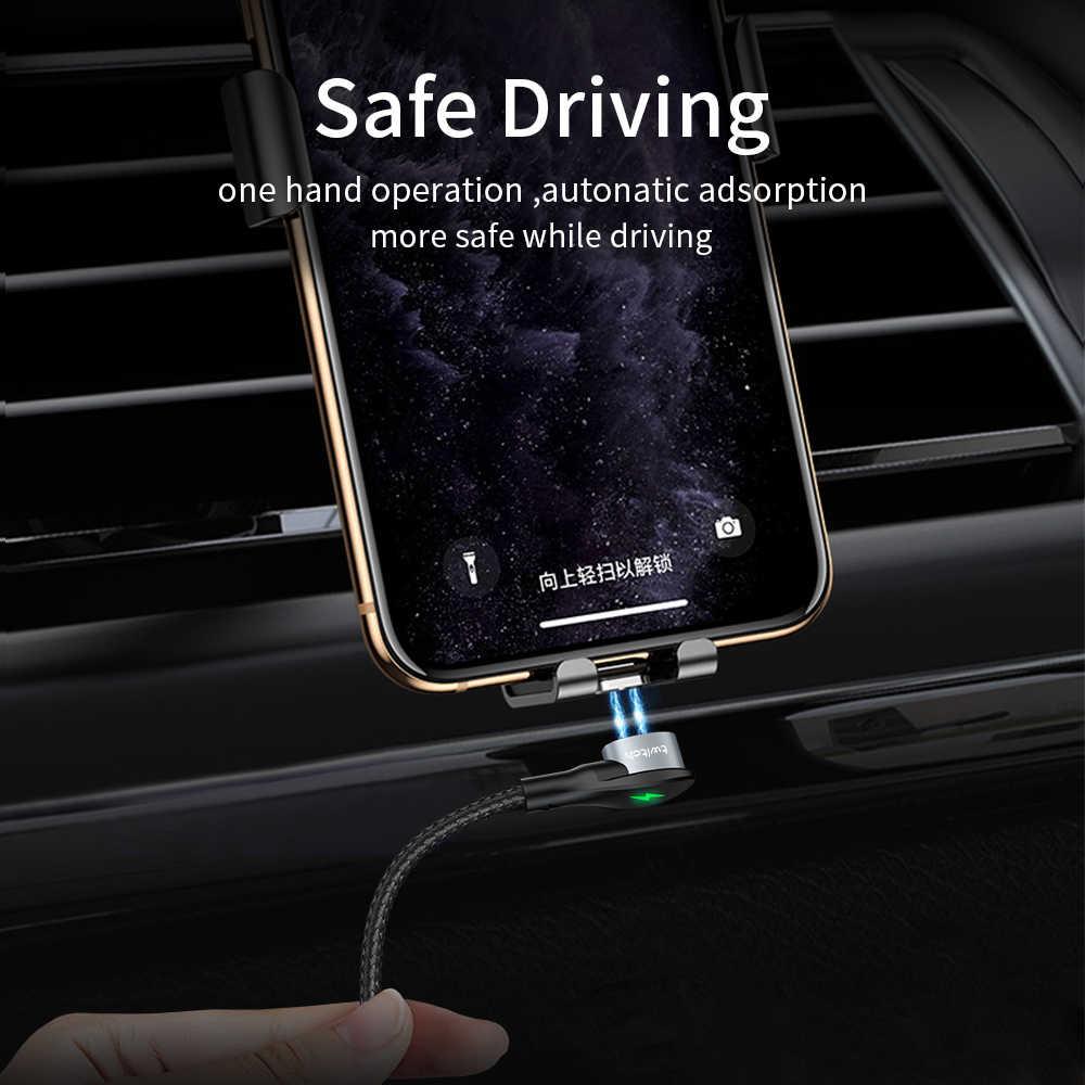 Twitch APP Kabel Cepat 3A untuk iPhone 11 Samsung Charger Pengisian Cepat 3.0 Micro USB Tipe C Magnet Ponsel Pengisian data Cord