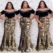 Африканские платья для женщин 2020 африканская одежда с блестками Фланелевое мусульманское длинное платье высокого качества модное Африканское платье для женщин